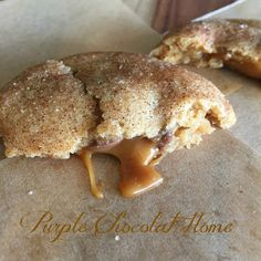 Purple Chocolat Home: Rolo Stuffed Brown Butter Snickerdoodles.