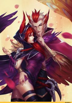 """League-Of-Legends-Sexy-Girls: """"xayah and rakan """" legenda casal, j Lol League Of Legends, League Of Legends Charaktere, Funny Couples, Anime Couples, Zed Wallpaper, Ban And Elaine, Overwatch, Lobo Anime, Fantasy Characters"""