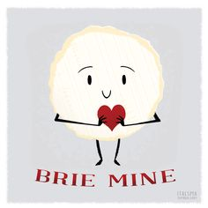 A quick Valentine as requested by my sister for her cheese-loving boyfriend! Had fun coming up with the cheesy puns, so I might try to whip out a couple more of these before the Any suggestions. Brie, Cheese Puns, Food Puns, Cheesy Recipes, Cute Gifts, Etsy Store, Valentines Day, Birthdays, My Arts