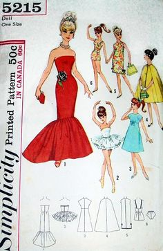 images simplicity patterns for barbie doll clothes - Bing images