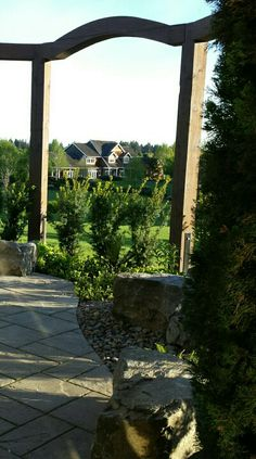 West Linn Arbor designed and installed by Blessing Landscapes.