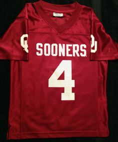 8b1680678395 OKLAHOMA SOONERS PRO EDGE REPLICA FOOTBALL JERSEY YOUTH SMALL 6 8 FREE  SHIPPING  PROEDGE  OklahomaSooners