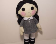 Felt stitched cute corpse zombie with heart by SouthernGothica