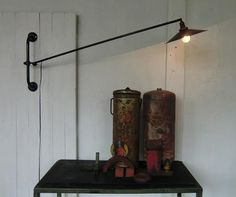 WO AND WÉ COLLECTION: Lampe potence vintage murale orientable articulée