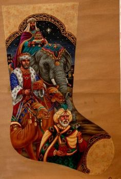 Forest Santa Needlepoint Christmas Stocking $426 Tapestry Tent Past Times Needlepoint offers this hand painted needlepoint canvas from the Tapesu2026 & Forest Santa Needlepoint Christmas Stocking $426 Tapestry Tent ...