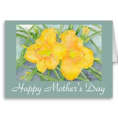 Golden Daylilies Greeting Card #Mother'sDay