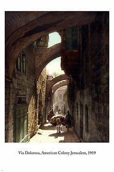 VIA DOLOROSA American Colony Jerusalem 1919 PHOTO POSTER 24X36 biblical