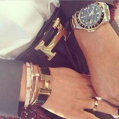 Hermes! cartier, princess, style, bracelets, hermes belts, accessories, jewelri, fashion designers, arm candies
