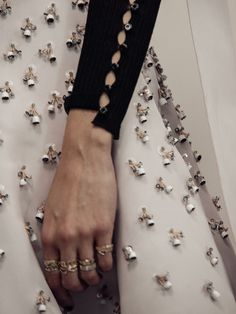 Haute Couture Embellishment - sewing idea; close up fashion design detail; embroidery // Christian Dior SS16