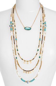 Sara Bella Multistrand Pendant Necklace available at #Nordstrom