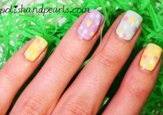 for easter or spring . love the pastel colors :) Pearl Nail Art, Pearl Nails, Acrylic Nail Designs, Nail Art Designs, Acrylic Nails, Spring Nail Art, Spring Nails, Nail Colors, Pastel Colors