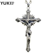 Fashion men 925 silver jesus cross necklace vintage pendant silver jewelry boys cool personality accessories //Price: $US $55.12 & FREE Shipping //     #hashtag3