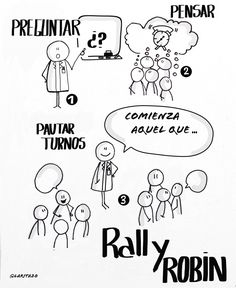 Aprendizaje cooperativo - Rally Robin. Cooperative Learning Strategies, World Language Classroom, Cartoon Eyes, Sketch Notes, Grammar Book, Text Quotes, Design Thinking, Classroom Activities, Anchor Charts