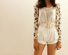 simple and cute leopard print cardigan