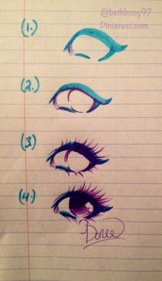 手绘 教程 眼睛 颜色的搭配 唯美
