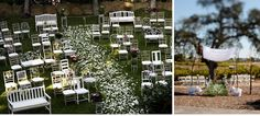 Mismatched vintage chairs at the ceremony or reception. So whimsical. would love to do this!