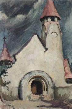 AMRITA SHER-GIL (1913-1941) UNTITLED (HUNGARIAN VILLAGE CHURCH)