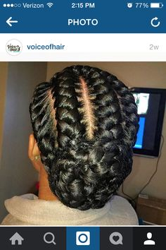 Braided bun, braids, goddess braids
