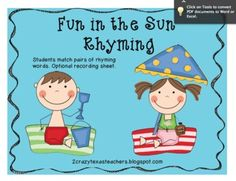 Summer Rhyming FREEBIE