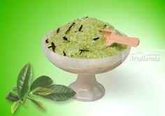 Sól do #kąpieli o zapachu zielonej herbaty zawierająca nawilżające #olejki i #oligoelementy.