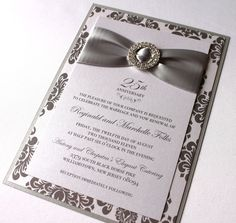 Elegant invitation idea.  I'm really looking for something similar to our original invitation but I don't think it is out there any longer.