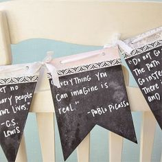Chalkboard Quote Banner Project by Vanessa Spencer