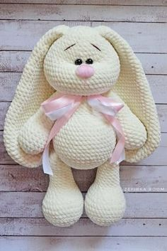 Mesmerizing Crochet an Amigurumi Rabbit Ideas. Lovely Crochet an Amigurumi Rabbit Ideas. Crochet Bunny Pattern, Crochet Rabbit, Crochet Amigurumi Free Patterns, Crochet Animal Patterns, Crochet Animals, Crochet Dolls, Free Crochet, Sewing Patterns, Dog Pattern