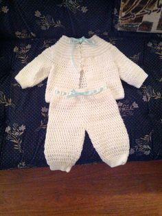 f0b7dfe24cec Crochet Baby Boy White Sweater