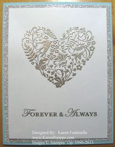 Love Card...Make it any occasion with the You Are Loved heart and a sentiment from Stampin' Up!