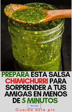 Esta salsa es saludable y puedes prepararla en menos de 5 minutos. Appetizer Dishes, Appetizer Recipes, Easy Cooking, Cooking Recipes, Mexican Salsa Recipes, Dominican Food, Dips, Dehydrated Food, Latin Food