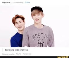 Grandpa Suho with his most height-fortunate son, Chanyeol
