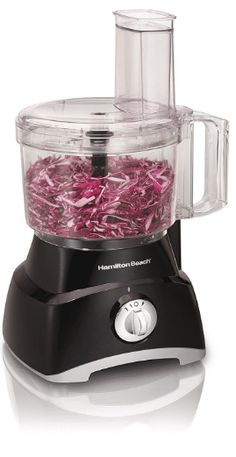 Hamilton Beach 8 Cup Food Processor Product Description Whether you are cooking … Food Processor Reviews, Small Food Processor, Small Appliances, Kitchen Appliances, Kitchens, Hamilton Beach Food Processor, Block Of Cheese, Vegetable Chopper, Eating Raw