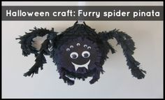 Furry Spider Pinata - Make Your Own - Halloween