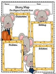 """BEST SELLER...TOP 100 ON TpT! The Biggest Pumpkin Ever ~ Written By Steven Kroll... This October Unit has 51 pages of ideas, activities and printables that correlate with the book """"The Biggest Pumpkin Ever."""" ~Class Discussion Questions & Ideas ~ Vocabulary Words, Definition List, Practice, Graphic Organizers And Printables ~ Making Connections ~ Character Webs ~ Writing Activities ~ ABC Order Activity Cards ~ Venn Diagram ~ Story Maps ~ Anchor Charts"""