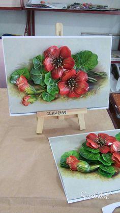 Zaliha's papertole-Sümbül Eldek Flower Sugar Cookies, Decoupage, Cold Porcelain Flowers, 3d Paper Art, Bird Coloring Pages, Popsicle Crafts, Plaster Art, Egg Art, Decorative Tile