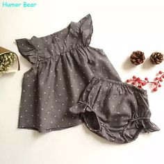 Humor Bear 2016 Fashion Summer Style DOT Baby Girl Clothes COTTON Clothing Set Baby Clothing - Kid Shop Global - Kids & Baby Shop Online - baby & kids clothing, toys for baby & kid Fashion Kids, Baby Girl Fashion, Fashion Clothes, Style Fashion, Latest Fashion, Fashion Trends, Style Clothes, Fashion Outfits, Fashion Usa
