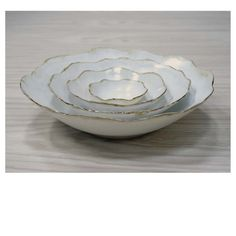 wheel thrown stoneware nesting bowls
