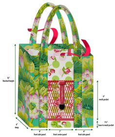 Mother's Day with Fabric.com: Farmer's Market Laminated Tote   Sew4Home
