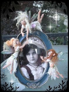 Bella's Portrait a OOAK (One of a Kind) fairy creation sculpted in Polymer clay and finished in mixed media.