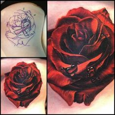 Black Rose Tattoo Coverup, Rose Tattoo Cover Up, Flower Cover Up Tattoos, Big Cover Up Tattoos, 16 Tattoo, Tattoo Henna, Rose Tattoos For Women, Black Rose Tattoos, Flower Wrist Tattoos