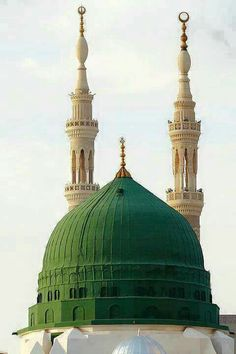 Breathtaking view of the  green dome # masjid al nabavi #Medina