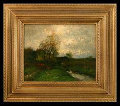 John Francis Murphy, American Tonalist, Autumn Landscape, 13 x oil on canvas Oil On Canvas, Abstract Art, Landscapes, Paintings, Autumn, Contemporary, American, Pintura, Paisajes