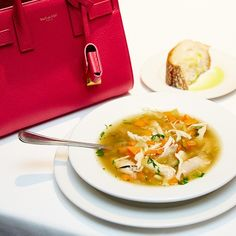 It's officially soup season. (It's also officially Saint Laurent season...but then, when is it not?) #fashioninfreds