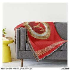 Aries Zodiac Symbol Throw Blanket | 15% Off anything | Use Code ANNOUNCEGRAD at checkout. Offer is valid through April 2, 2016 11:59 PM PT