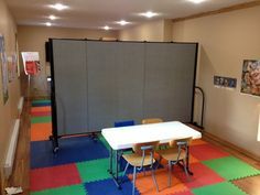 Great Ideas For Maximizing Space In Your Facility Using Portable Room Dividers #Portable Walls See it @ screenflex.com