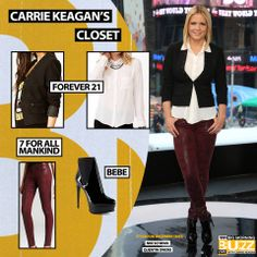Similar Shirt: Forever 21 Multi-Studded Collar Shirt - $19.80 Blazer: Forever 21 Bolted Stud Blazer - $32.80 Jeans: 7 For All Mankind Red Jeans The Skinny High Gloss Snake - $259 Shoes: Bebe Solange Patent Leather Ankle Boot - $179 Chelsea Lately, Studded Collar, Red Jeans, Collar Shirts, Leather Ankle Boots, Get The Look, Carry On, Forever 21, Skinny