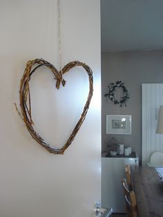 Easy DIY heart wreath