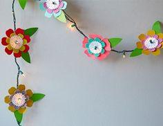 Cricut Crafts: Flower String Lights