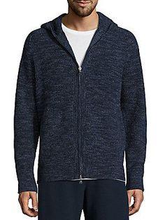 Vince Wool & Cashmere Zip-Front Jacket - Nightshadow - Size