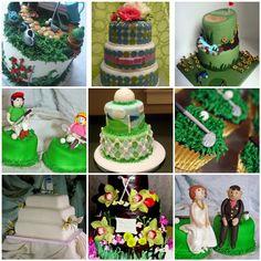Golf Wedding Cakes by DessertLover2010, via Flickr
